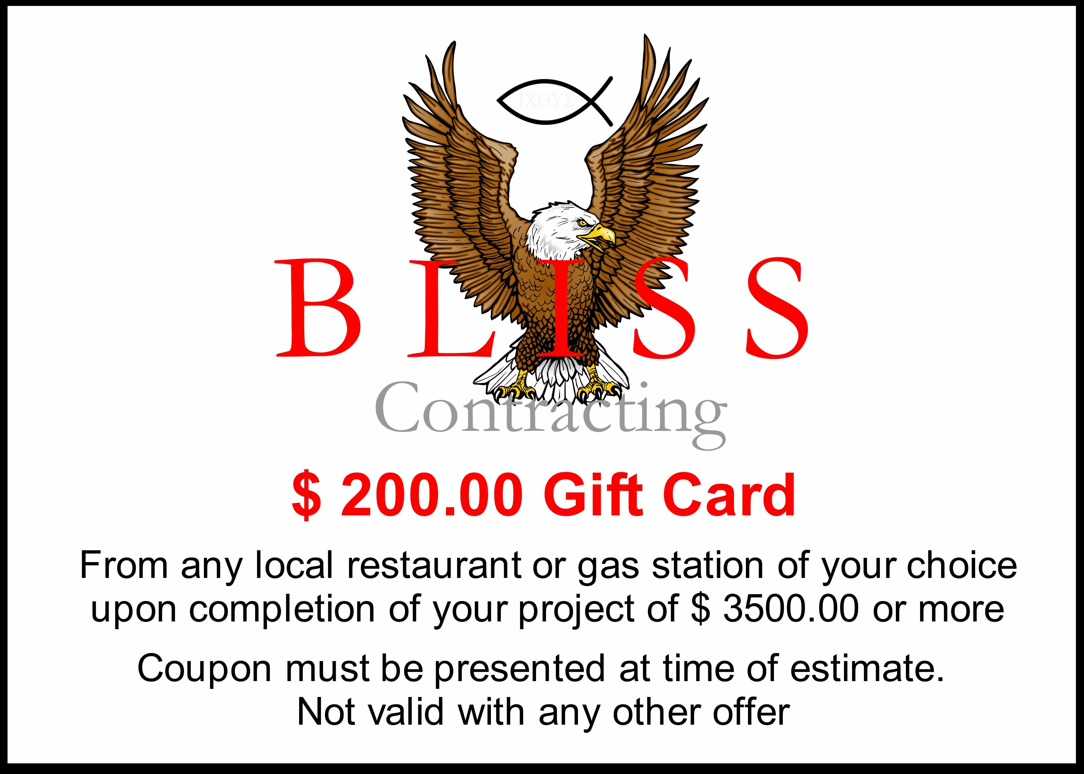 Special Offer Bliss Contracting
